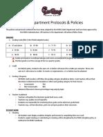 math department policies