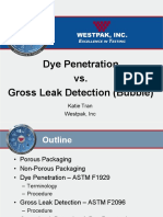 Dye Penetration vs Gross Leak