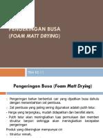 Presentasi Foam Mat Drying