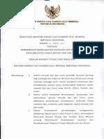 Permen ESDM Nomor 38 Tahun 2017
