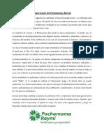 Pachamama Raymi y Sacerdote Andino