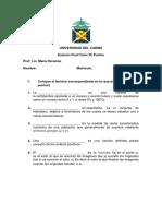 Examen Final de Curriculo IV