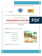 Requerimientos Nutricionales Microbianos