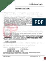 Reglamento Del Alumno- Instituto de Ingles - Utp