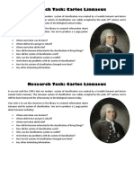 Research Task Carlos Linnaeus