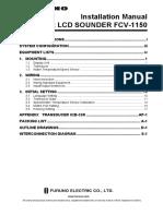 Furuno FCV-1150 InstallationManual