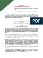 Constitucion Politica Del Estado de Sinaloa