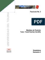 Fascículo No. 3 Medidas de Posición