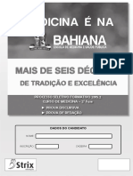 Prova Bahiana Medicina PROSEF 2015-2-2aFase