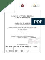 25635-220-V1b-Mdl0-00715 Manual de Operacion Seguridad y Guia de Mantencion - Diseño Suministro Sistema de Unidad Hidraulica de Lanzas Tag 0240-Zmh-0035