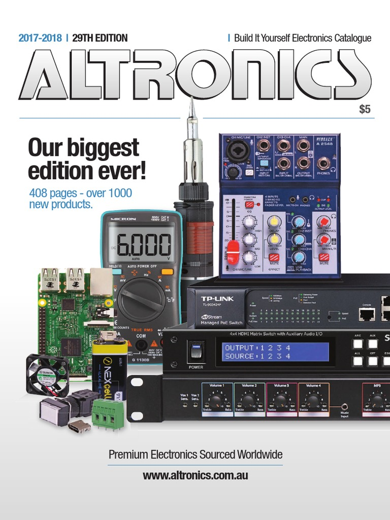 Altronics 2017 18 Electronics Catalogue Electrical Engineering In Flickering Circuits And Assorted Lens Sizes From 3mm 10mm Electromagnetism
