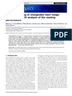 Optical modeling of changeable laser image functionality with analysis of the viewing performance