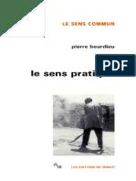 Bourdieu Pierre Le Sens Pratique 1980