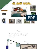 Asas Electromekanikal Pulley and Gear