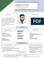Engsarfraz Anwar Telecommunication Sample CV