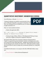 Quantitative Investment- Momentum Scoring