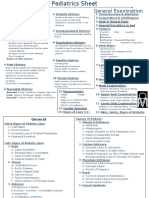 Pediatrics Sheet Taking