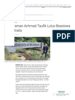 Pengalaman Achmad Taufik Lulus Beasiswa Ke Australia - Kompas