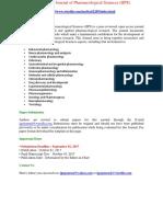 International Journal of Pharmacological Sciences (IJPS)