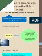 Pendekatan Pengajaran Dan Pembelajaran Pendidikan Moral (Pembinaan Rasional)