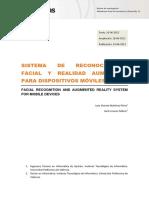 Sistemas de reconocimiento facial y realidad aumentada para dispositivos móviles Juan Vicente Martínez Pérez