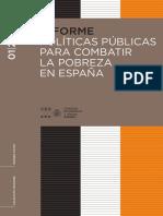 2017 Políticas Publicas Para Combatir La Pobreza en España