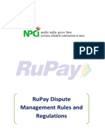 RuPay Dispute Management Rules and Regulations 2.0
