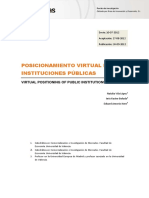 Posicionamiento virtual de instituciones públicas Eduard Amorós, Inés Küster Boluda, Natalia Vila López