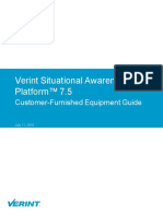 Verint SA Customer Furnished Equipment Guide