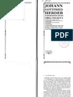 Herder, Obra Selecta
