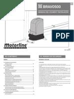 Manual de usuario motor para puertas de corredera Bravo500 Es