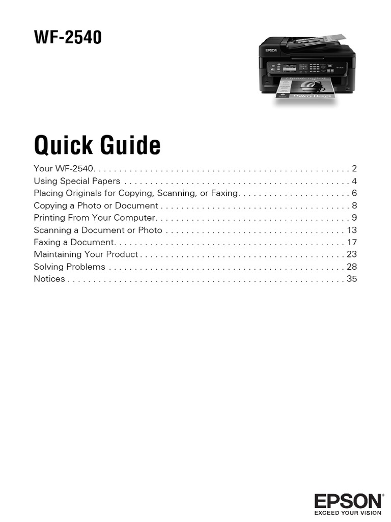 epson workforce wf 2540 quick guide wf2540qr image scanner fax rh es scribd com Epson Workforce WF-2540 Manual epson user guide wf 3540