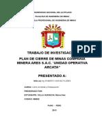 Plan de Cierre de Minas Mina Arcata