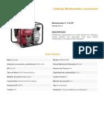 Motobomba 3 5.5 HP