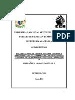 Guía de Estudio para examen Filtro de Cibernética Computación I y II