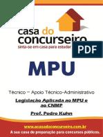 Apostila Mpu Tecnico Legislacao Aplicada Aompu e Ao Cnmp Pedro Kuhn