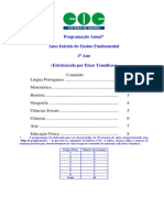 Conteudo Programatico 1 Ano Ensino Fundamental