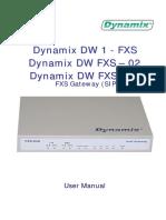Dynamix Dw 1-02-04 Fxs Sip Um e