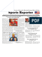 August 9 - 15, 2017  Sports Reporter