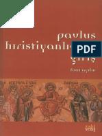Fuat Aydın - Pavlus Hıristiyanlığına Giriş