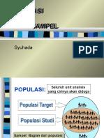 kuliah POPULASI   SAMPEL
