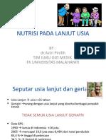 Pengaturan Nutrisi Pada Usia Lanjut