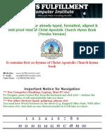 Christ Apostolic Church Hymn Book Yoruba Version Sample (1)