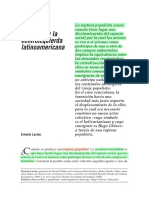 Laclau, Ernesto - La Deriva Populista y La Centro Izquierda Latinoamericana