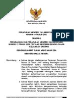 Permendagri No. 59 Tahun 2007