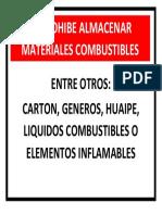 Prohibido Almacenar Materiales Combustibles