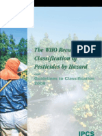 Pesticides Hazard 2009