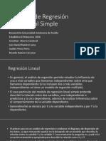 Análisis de Regresión Lineal Simple Completo
