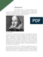 Biografia William Shakespeare