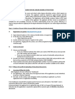 Procedure Online Degree Attestaion